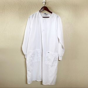 Landau Long White Lab Coat Size Small